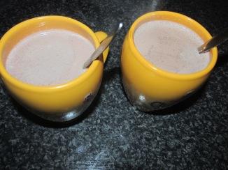 Warme chocolademelk met amaretto
