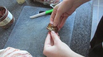 dadels met spek en amandel