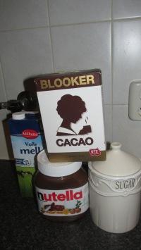 warme Nutella chocolademelk
