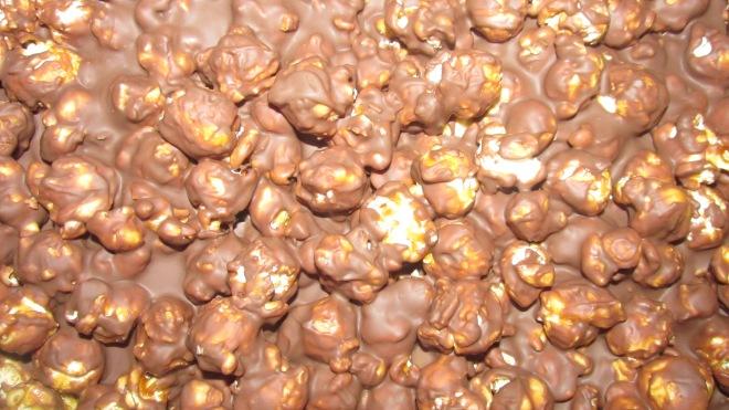 chocolade karamel popcorn repen
