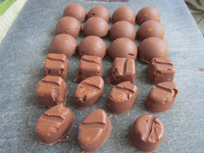 pinda chocolaatjes