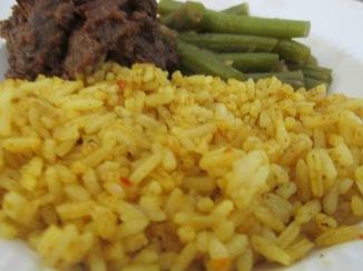 gekruide en gebakken rijst