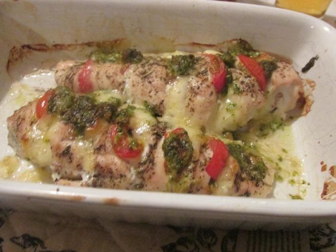 kipfilet caprese uit de oven