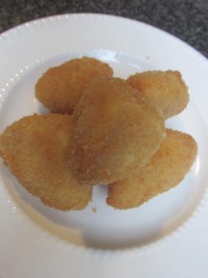 gefrituurde mozzarella puntjes