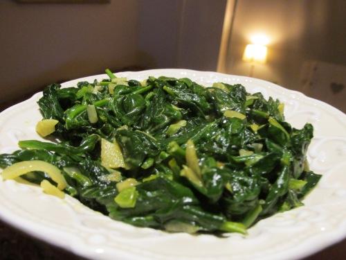 Indiase kerrie spinazie