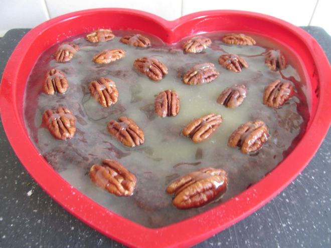 pecannoten karamel brownie