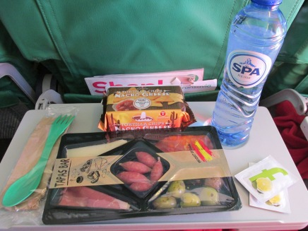 tapas tray en nachos (Transavia)