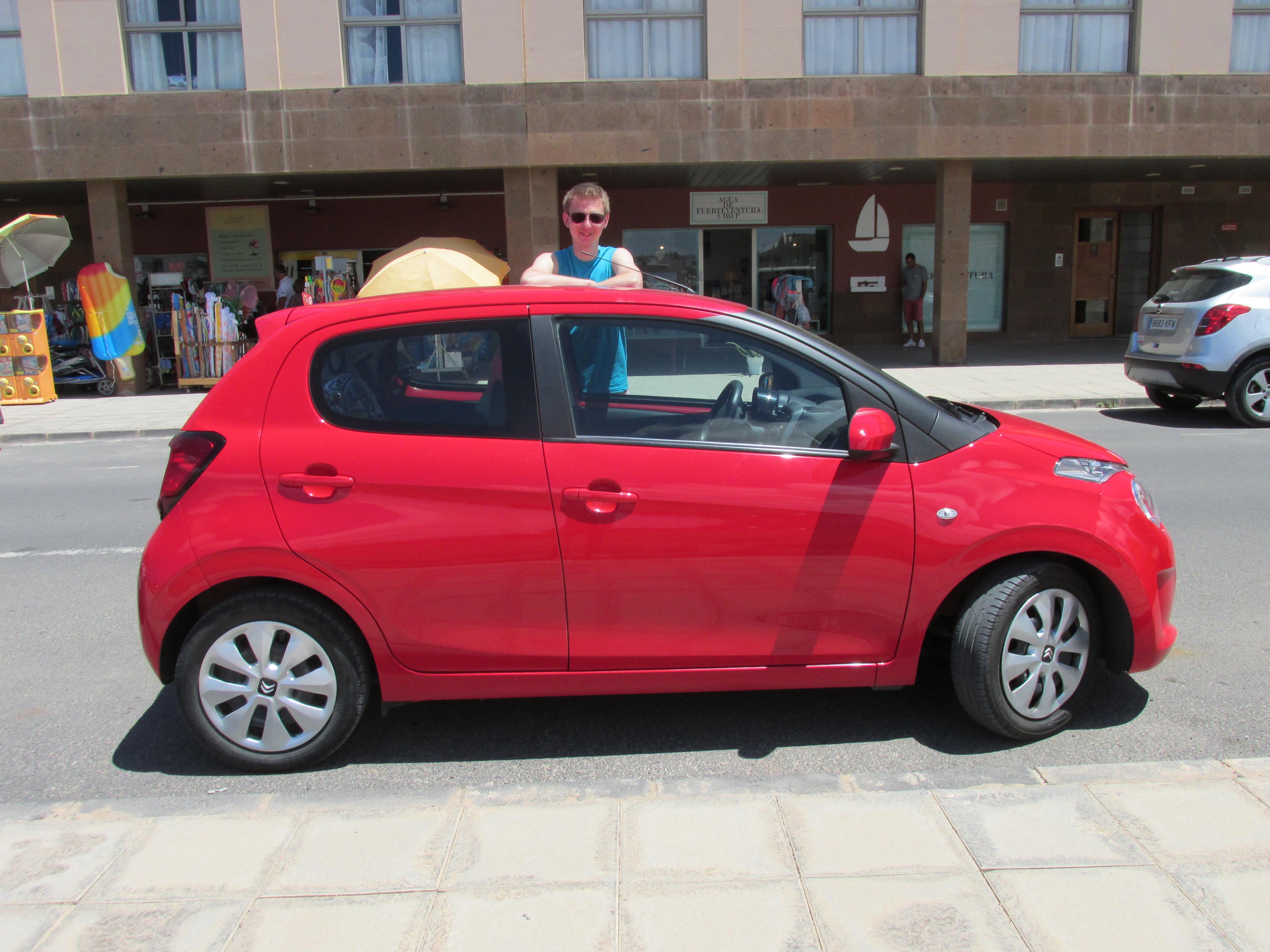 auto op Fuerteventura (via Sunnycars)