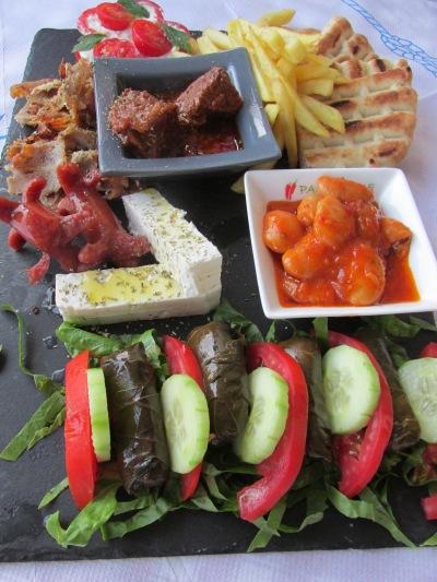 meze schotel, the Sizzlebang grill (Laganas) Zakynthos