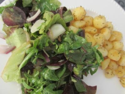 salade met druiven en honing/mosterd dressing