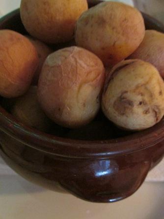 papas arrugadas/Canarische aardappelen (Olivo Corso, el Cotillo)