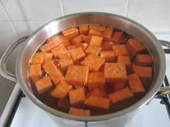 groente bouillon (met zoete aardappel)
