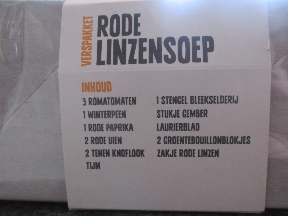 Review: AH verspakket, Linzensoep