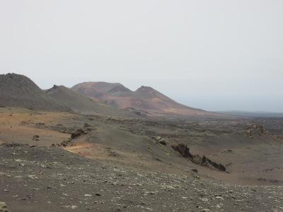 Een dag naar Lanzarote vanaf Fuerteventura. Nationaal park Timanfaya, Lanzarote.