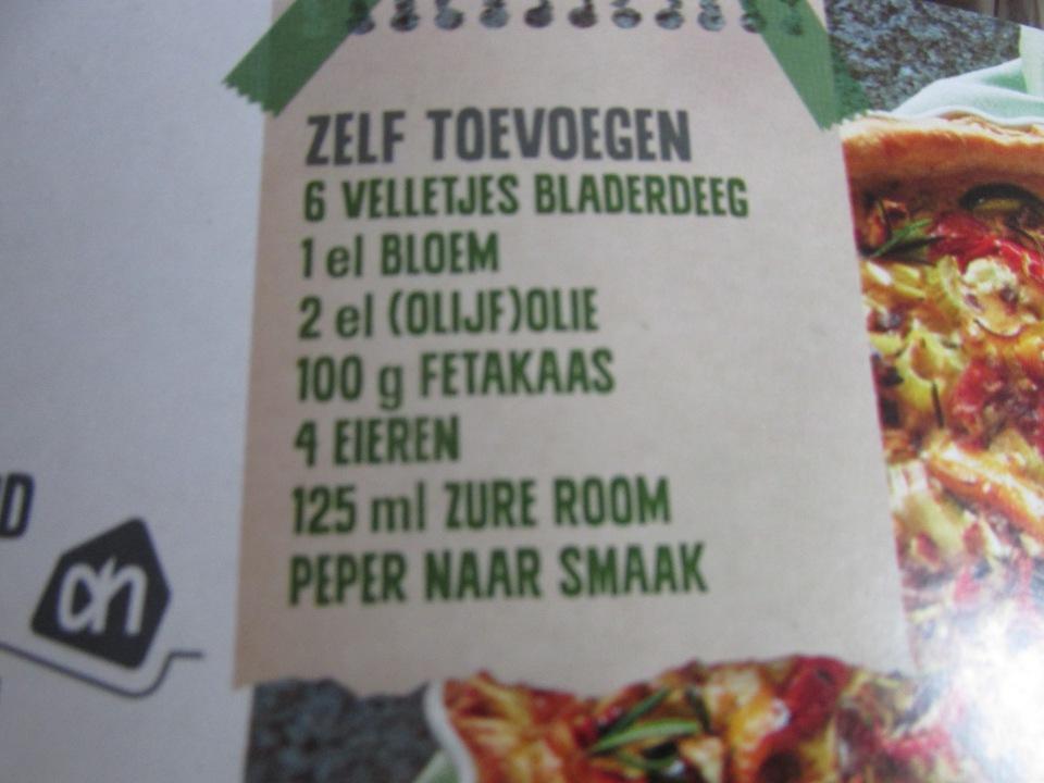 Review: AH verspakket, Groente quiche