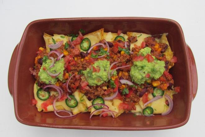 Nachos met chili con carne